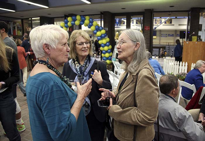 the Rev. Barbara Lundblad '66, Diane Gustafson '66 Hill and Janet Ahlstrom '66 Moline in Rock Island