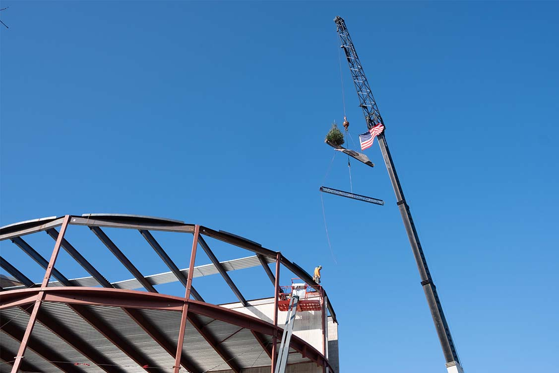 topping off ceremony at Hanson