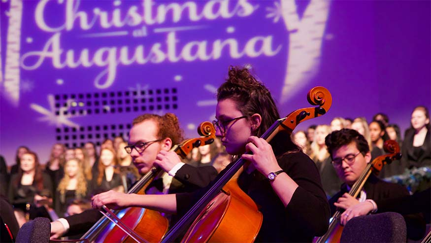 christmas at augustana cello players