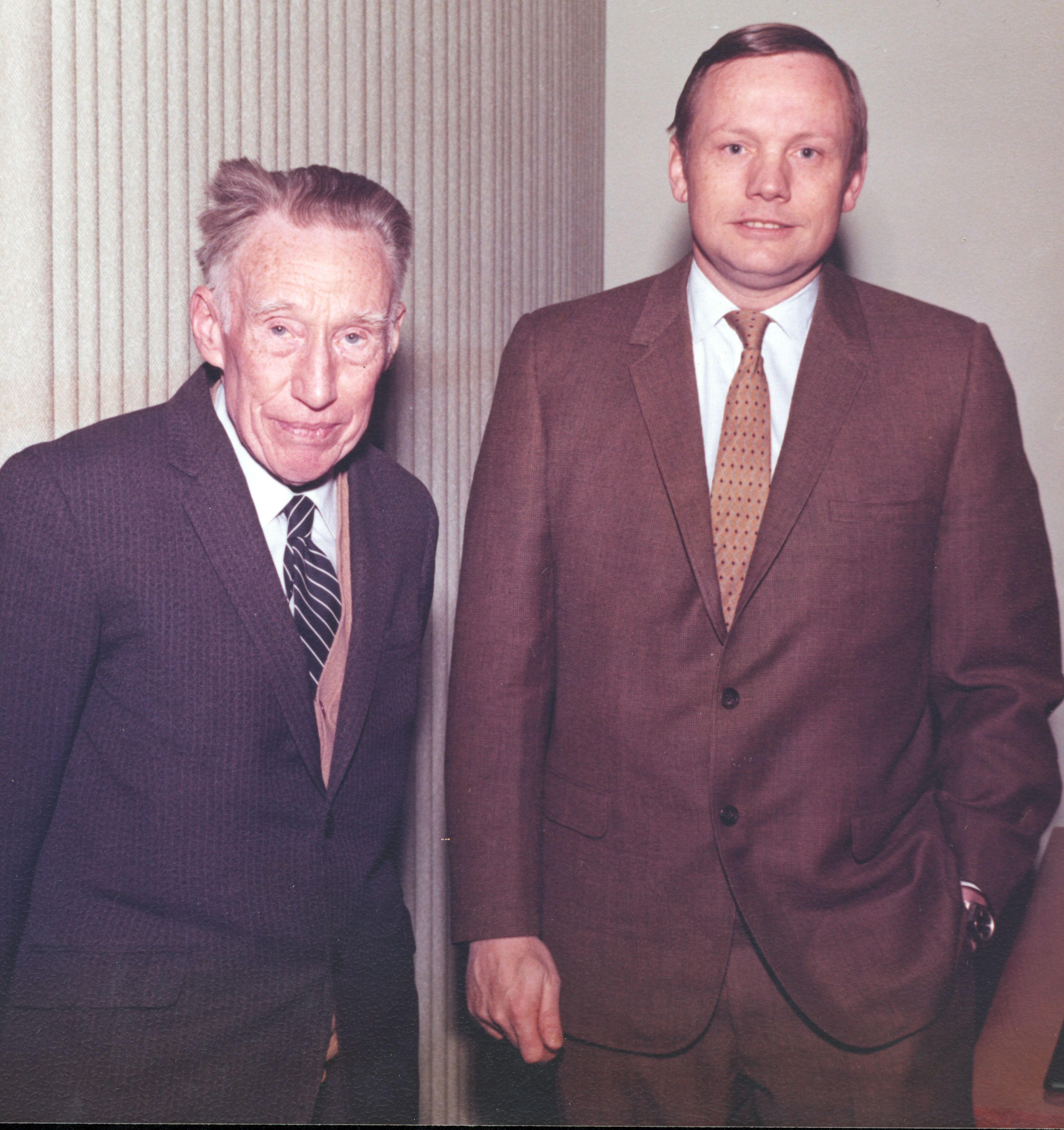 Dr. Fritioff Fryxell and Neil Armstrong