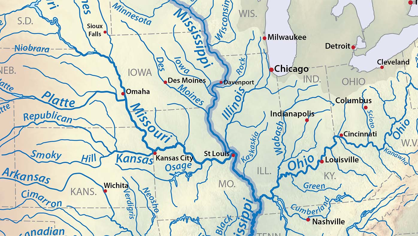 Map of U.S. rivers