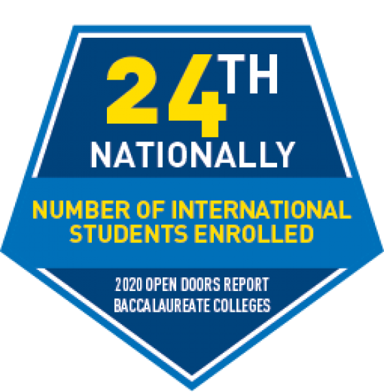 Number of international students