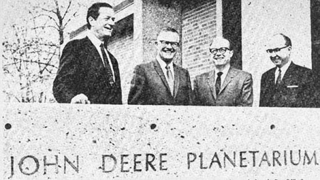 dedication of the planetarium in 1969