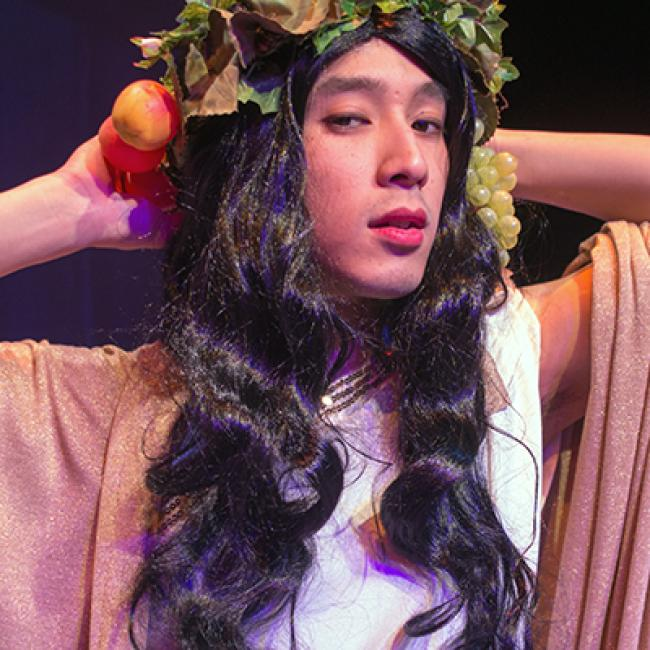 "Calvin Vo in ""The Bock-Eye"" at Augustana, 2013"