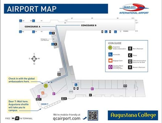 quad cities international airport map