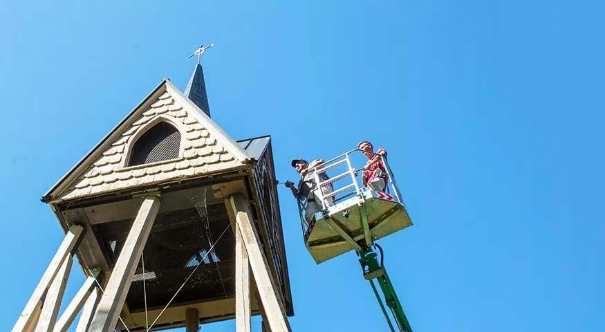 painting the bell tower