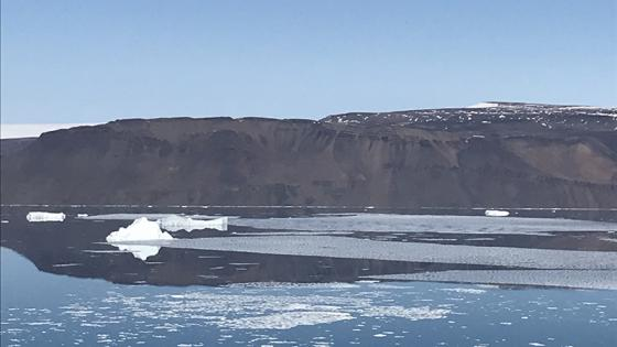 View of glacier and ice in Greenland