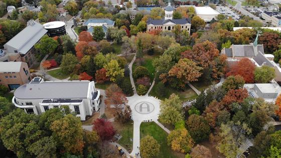 aerial photo of Augustana's campus