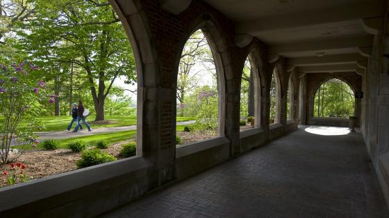 Founders arches in the spring